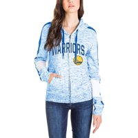 Golden State Warriors New Era Women's Space Dye Full-Zip Hoodie - Royal