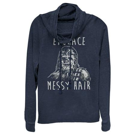 Star Wars Juniors' Chewbacca Embrace Messy Hair Cowl Neck Sweatshirt](Chewbacca Sweatshirt)