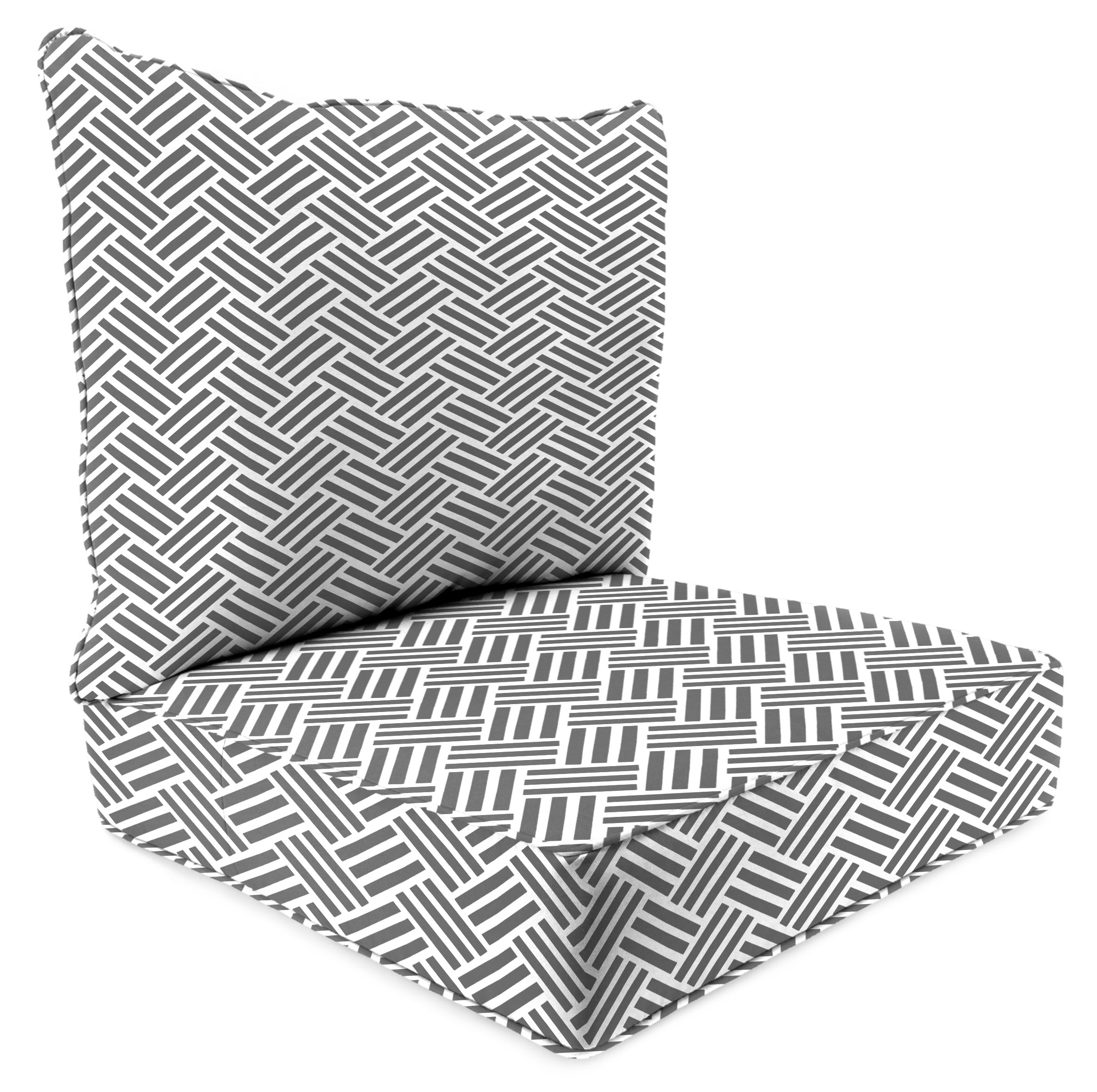Jordan Manufacturing Mainstays Grey Herringbone Outdoor Deep Seating Cushion Set by Jordan Manufacturing