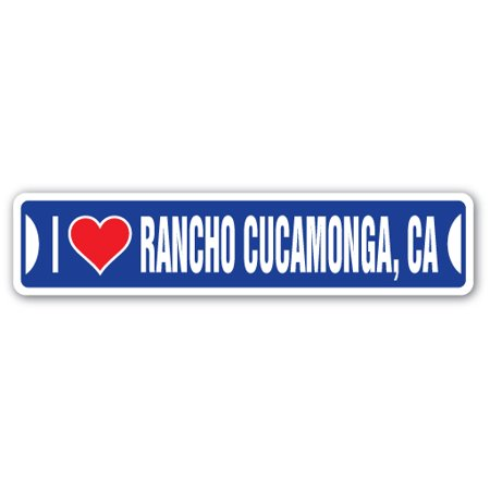 I LOVE RANCHO CUCAMONGA, CALIFORNIA Street Sign ca city state us wall road décor (12200 Arrow Route Rancho Cucamonga Ca 91739)