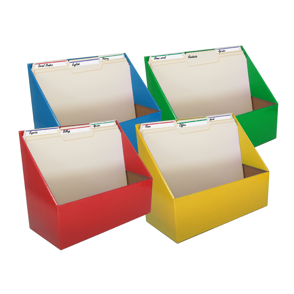 Evelots Folder Holder Organizers, 4-Pack, Assorted Colors