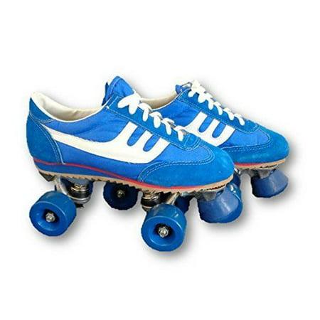 Blue and White Boy's Size 6 Vintage Roller Skates ()