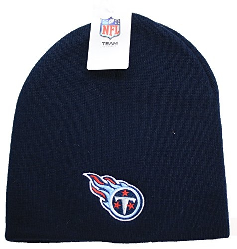 NFL Tennessee Titans Cuffless Knit Beanie Hat Blue by NFL