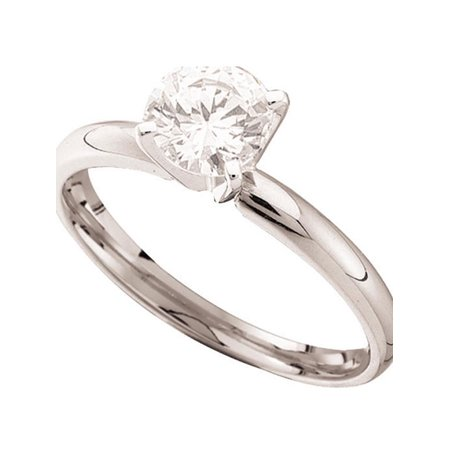 14kt White Gold Womens Round Diamond Solitaire Bridal Wedding Engagement Ring 1.00 Cttw - image 1 of 1