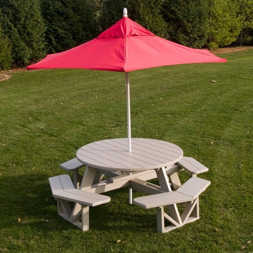 POLYWOOD�� Park Recycled Plastic 53 in. Octagon Commercial Picnic Table