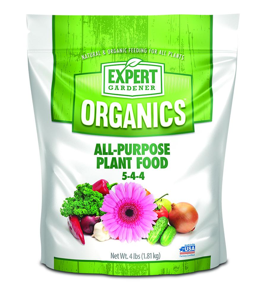 Expert Gardener Organics All-Purpose Plant Food, 4 lb, EG4AP