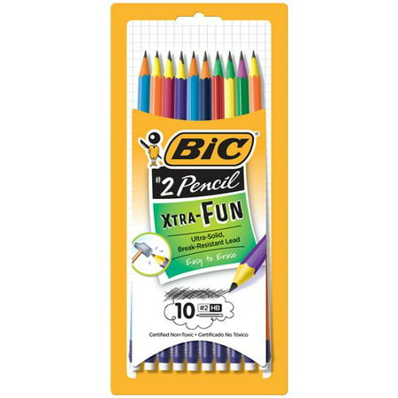 BIC Xtra Fun Pencil, #2 HB lead, 10-Count
