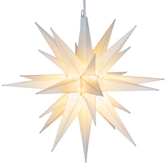 """21"""" Classic White Moravian Star Perfect Illuminated Hanging Star Light for Indoor Outdoor Christmas Decorations,... by Elf Logic"""