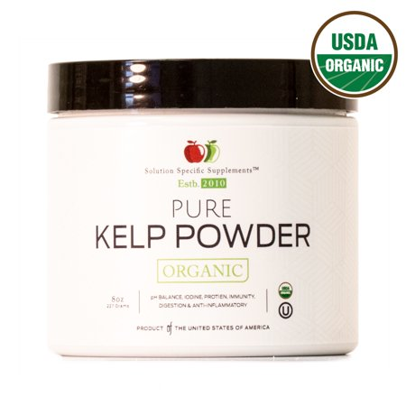 Organic Sea Kelp - Organic Sea Kelp Powder Supplement - Bulk Raw Dry Pure Kelp Seaweed Powder 8oz 45 Serving Thyroid, Iodine, & Digestion