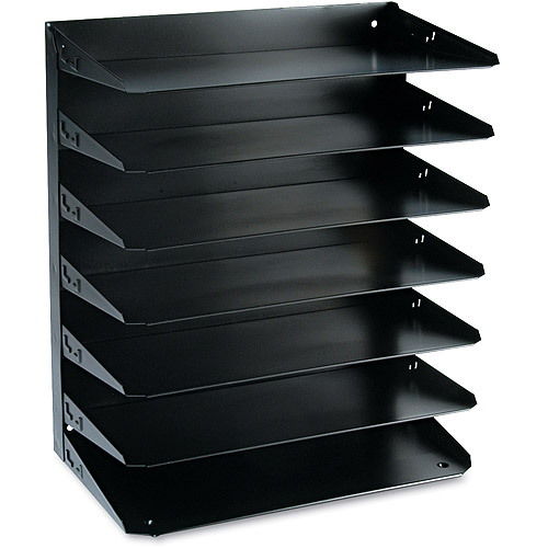 SteelMaster by MMF Industries SteelMaster Multi-Tier Horizontal Oraganizer, Steel, Black