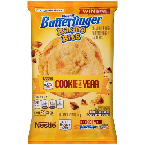 Nestle Toll House Butterfinger Baking Bits Sugar Cookie Dough, 16 oz