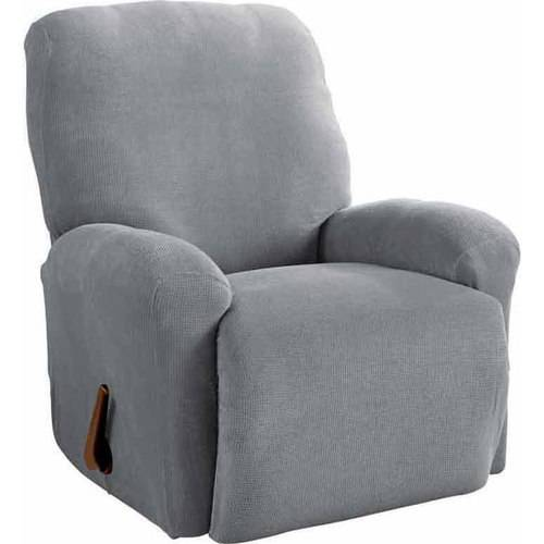 Serta Stretch Grid Slipcover, Recliner 4-Piece Box Cushion