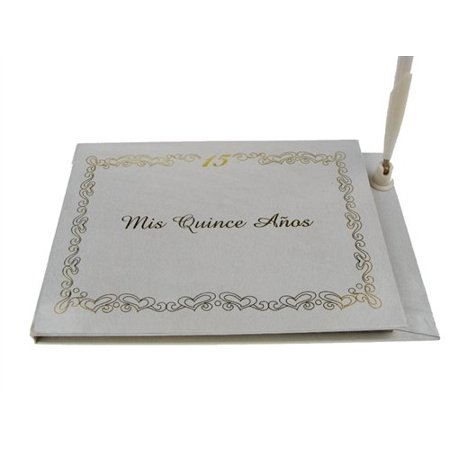Mis Quince Anos Spanish Sweet 15 Signature Guest Book Reception Party Keepsake