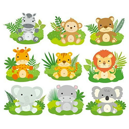 Baby Jungle Animals- Designer Strips - Edible Cake Side Toppers (3 Strips)