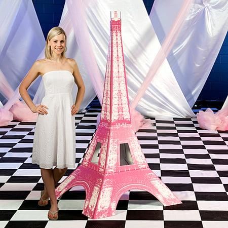 6 ft. Bonjour Pink Paris Eiffel Tower