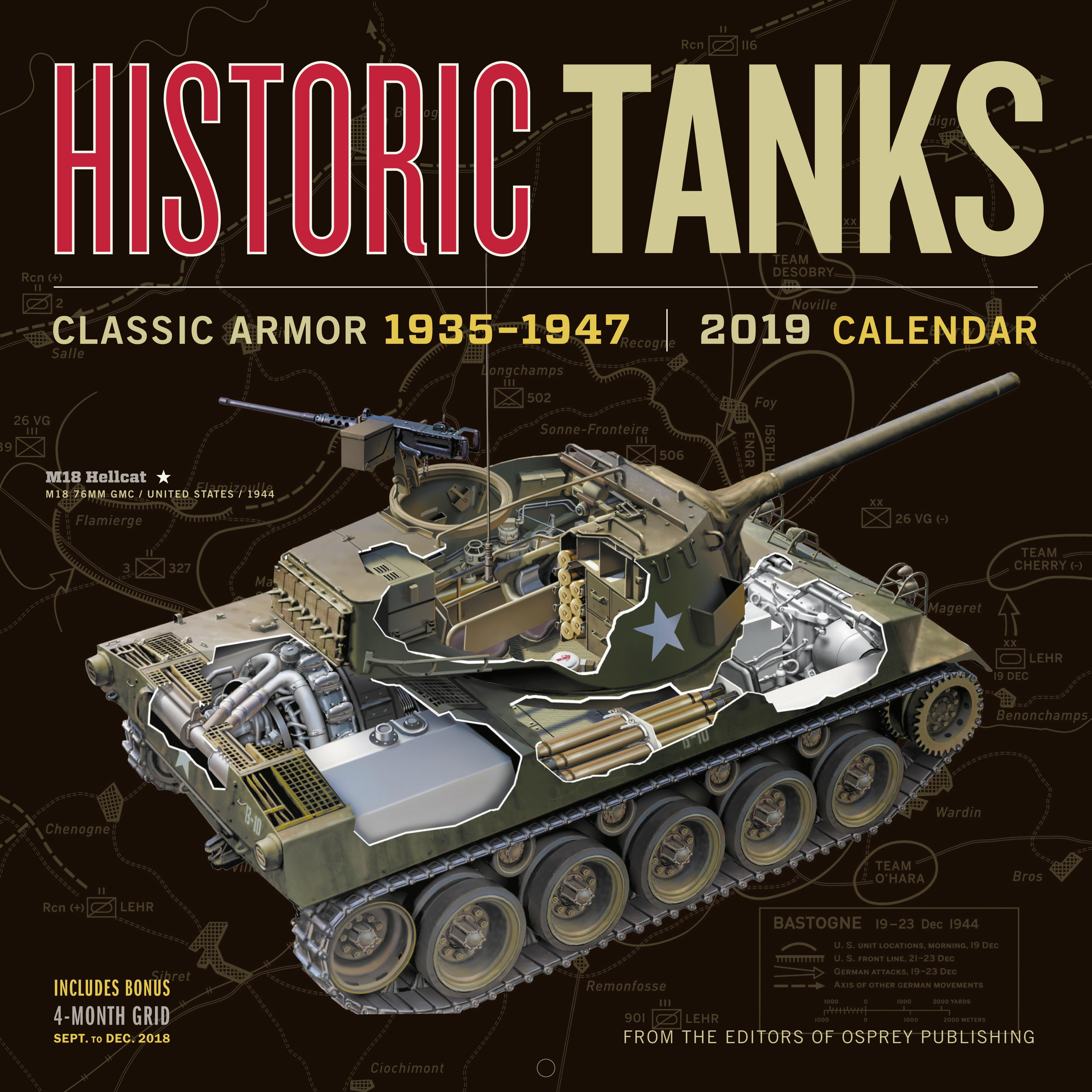 Historic Tanks Wall Calendar 2019 (Other)