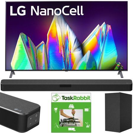 LG 65NANO99UNA 65-inch 8K HDR Smart LED NanoCell TV with AI ThinQ (2020) Bundle with LG SN5Y 2.1 Channel High Res Audio Sound Bar with DTS Virtual:X and Taskrabbit Installation Service