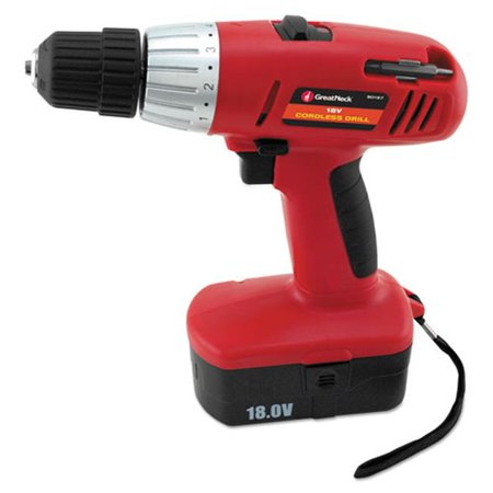 Great Neck Saw Mfg. 80167 Great Neck 18 Volt 2 Speed Cordless Drill, 3/8'' Keyless Chuck - image 1 of 1