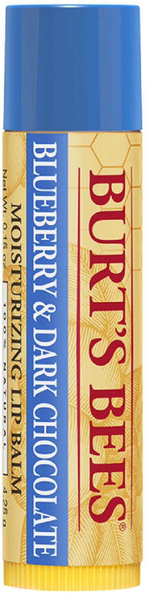 Burts Bees Revitalizing Lip Balm with Blueberry & Dark Chocolate, 0.15 oz (Pack of 4) (6 Pack) mehron E.Y.E Cream - Deep Blue