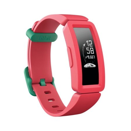 Fitbit Ace 2 Activity Tracker for Kids 6+, Watermelon/Teal Clasp,One