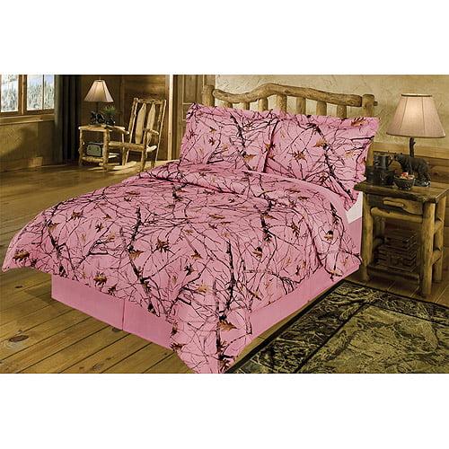 True Timber Bedding Snowfall Pink Comforter Set