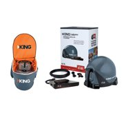 KING VQ4550 Tailgater Bundle with Carry Bag - Portable Satellite TV Antenna, DISH Wally HD Receiver & CB1000 Tailgater Padded Carry Bag for RVs, Trucks, Tailgating, Camping and Outdoor