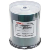 100 CMC Pro Taiyo Yuden 52X CDR (CD-R) 80min 700MB Shiny Silver in Cake Box