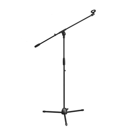 PYLE PMKS3 - Tripod Microphone Stand, Height Adjustable Mount, Extending Boom Mic