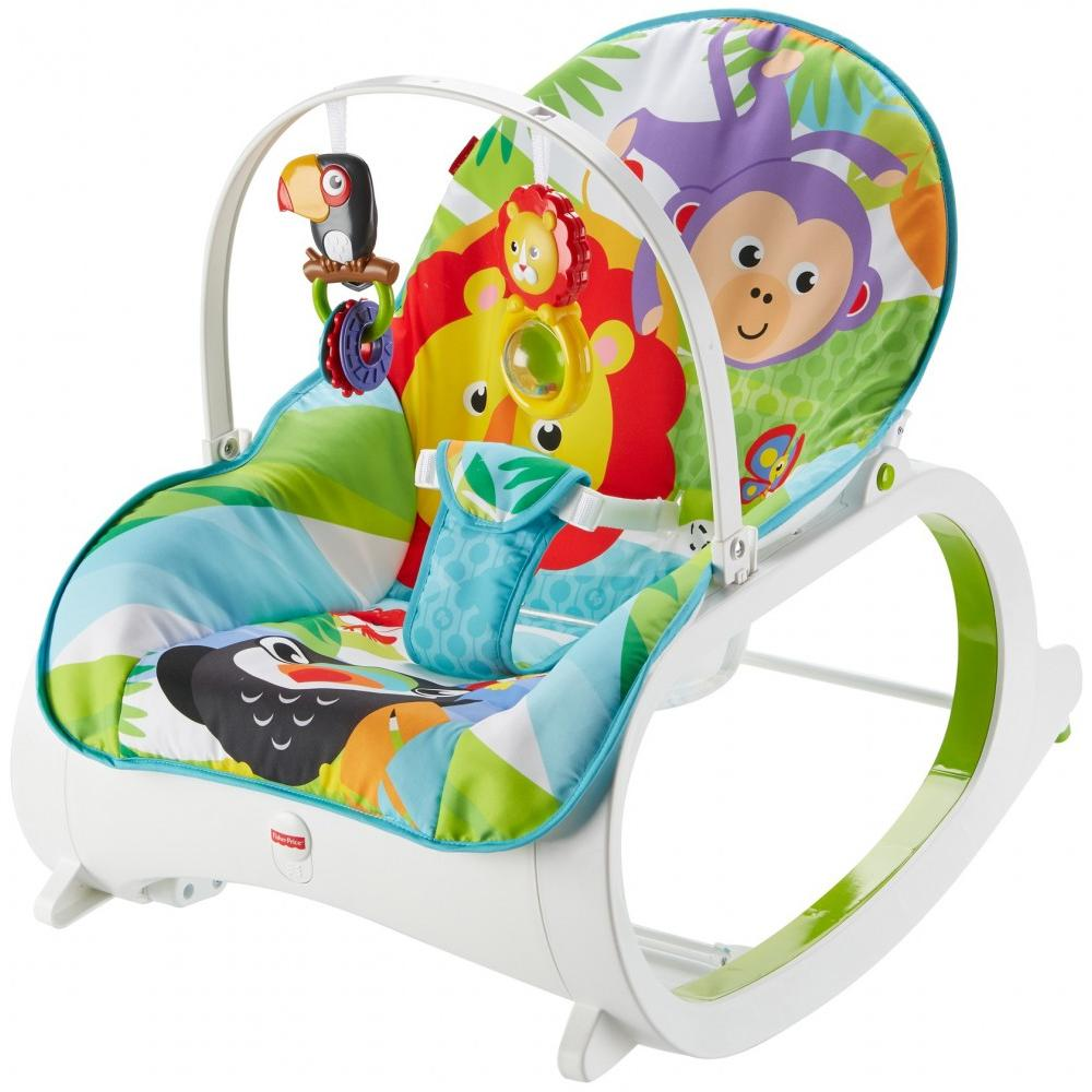 Pink Infant to Toddler Rocker Bouncer Seat Baby Chair Sleeper Swing Toy Portable Baby