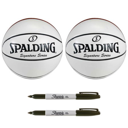 Spalding Signature Series Autograph Basketball and Sharpie Marker (2-Pack)
