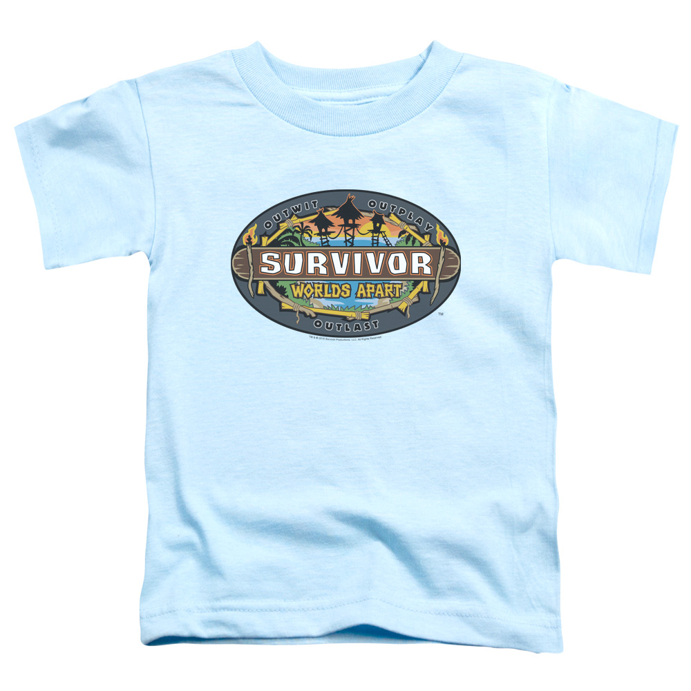 Survivor Worlds Apart Logo Little Boys Shirt