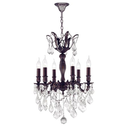 06 Flemish Finish - Versailles Collection 6 Light Flemish Brass Finish and Clear Crystal Chandelier 19