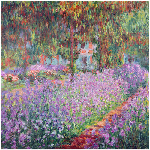 "Trademark Fine Art ""The Artist's Garden at Giverny"" Canvas Art by Claude Monet"