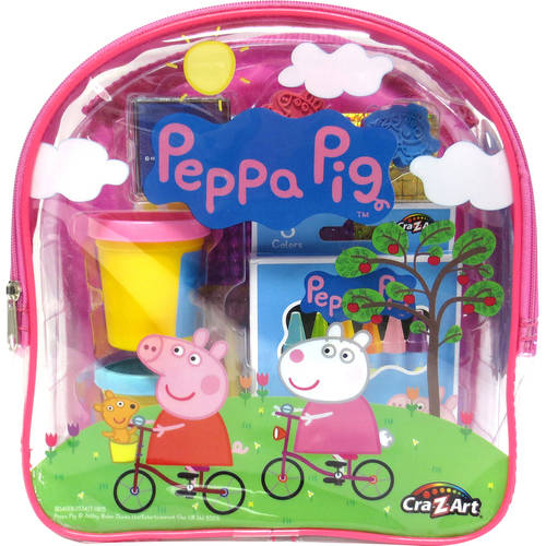 Cra-Z-Art Peppa Pig Coloring & Activity Backpack Colors may vary by CRA-A-ART