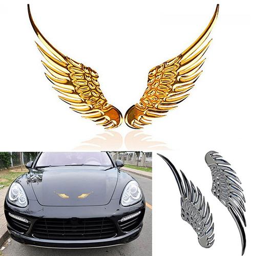 Girl12queen Cool 3d Car Metal Eagle Wing Emblem Badge Trunk Auto