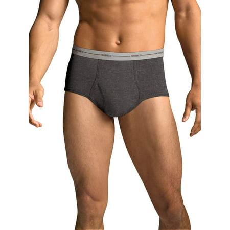 Men's FreshIQ Comfort Flex Waistband Dyed Briefs, 6 (Cowhide Leather Briefs)