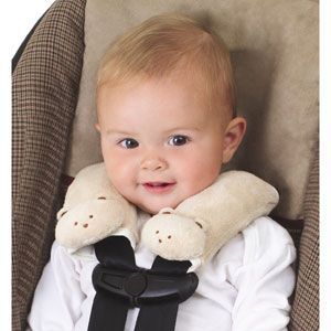 Kiddopotamus Cushystraps Super Soft Strap Covers, Fawn Teddie Bears