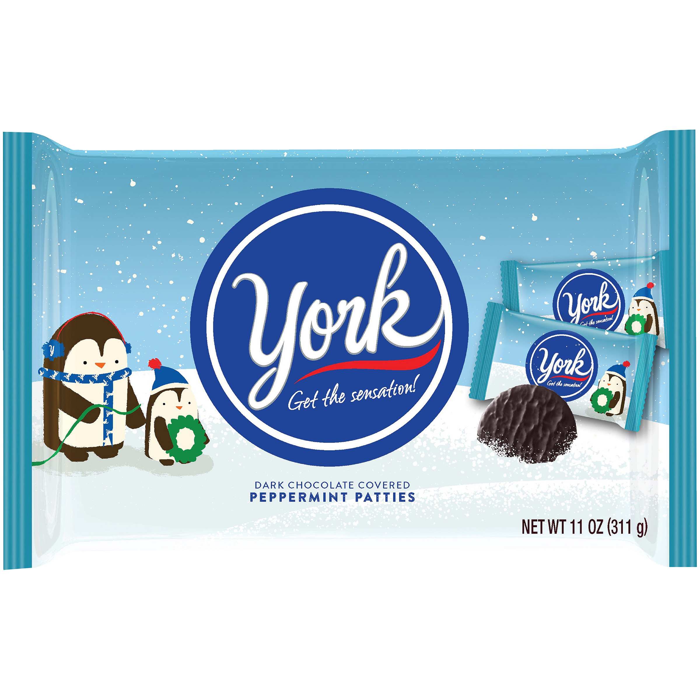 York Holiday Peppermint Patties Christmas Candy, 11 oz