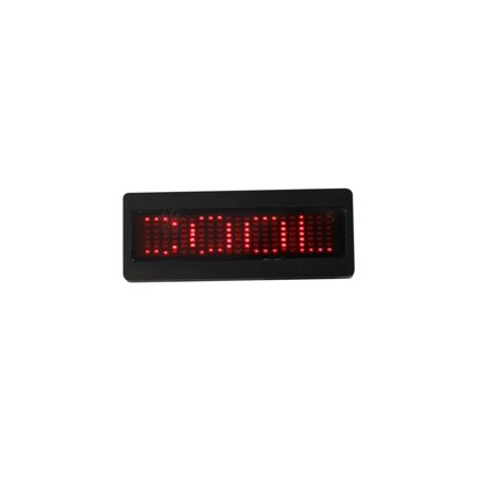 Programmable Sign (Bolan Programmable Scrolling Red LED Name Tag, Reusable Name Badge, PriceTag rechargeable ID Tag office magnetic name tags, MicroUSB programming Digital)