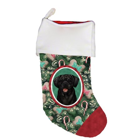 Puggle Black -  Best of Breed Dog Breed Christmas (The Best Christmas Stockings)