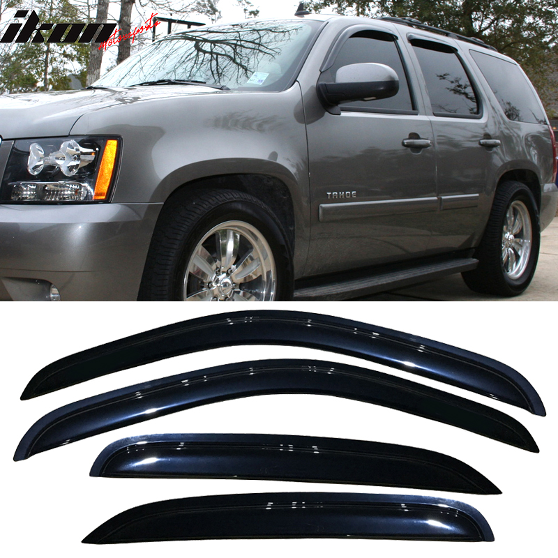 Fits 07-14 Chevy Tahoe GMC Yukon Acrylic Window Visors 4Pc Set