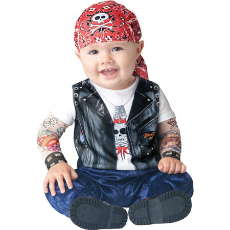 Infant Boy Halloween Costume: Baby Biker Costume  6-12 months