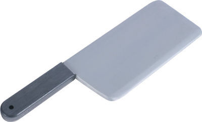 Artificial Fake Meat Cleaver Knife Halloween Prop Scary Plastic Butcher by