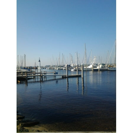 Bay Harbor Marina (Canvas Print Harbor Yacht Port Marina Bay Boats Water Sails Stretched Canvas 10 x 14)