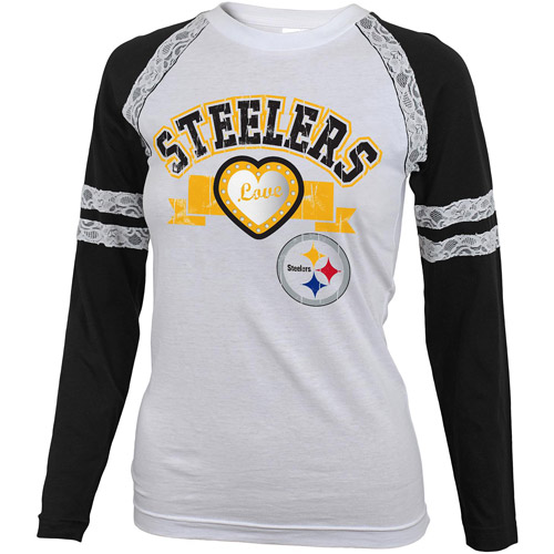 NFL Girls' Pittsburgh Steelers Long Sleeve Tee