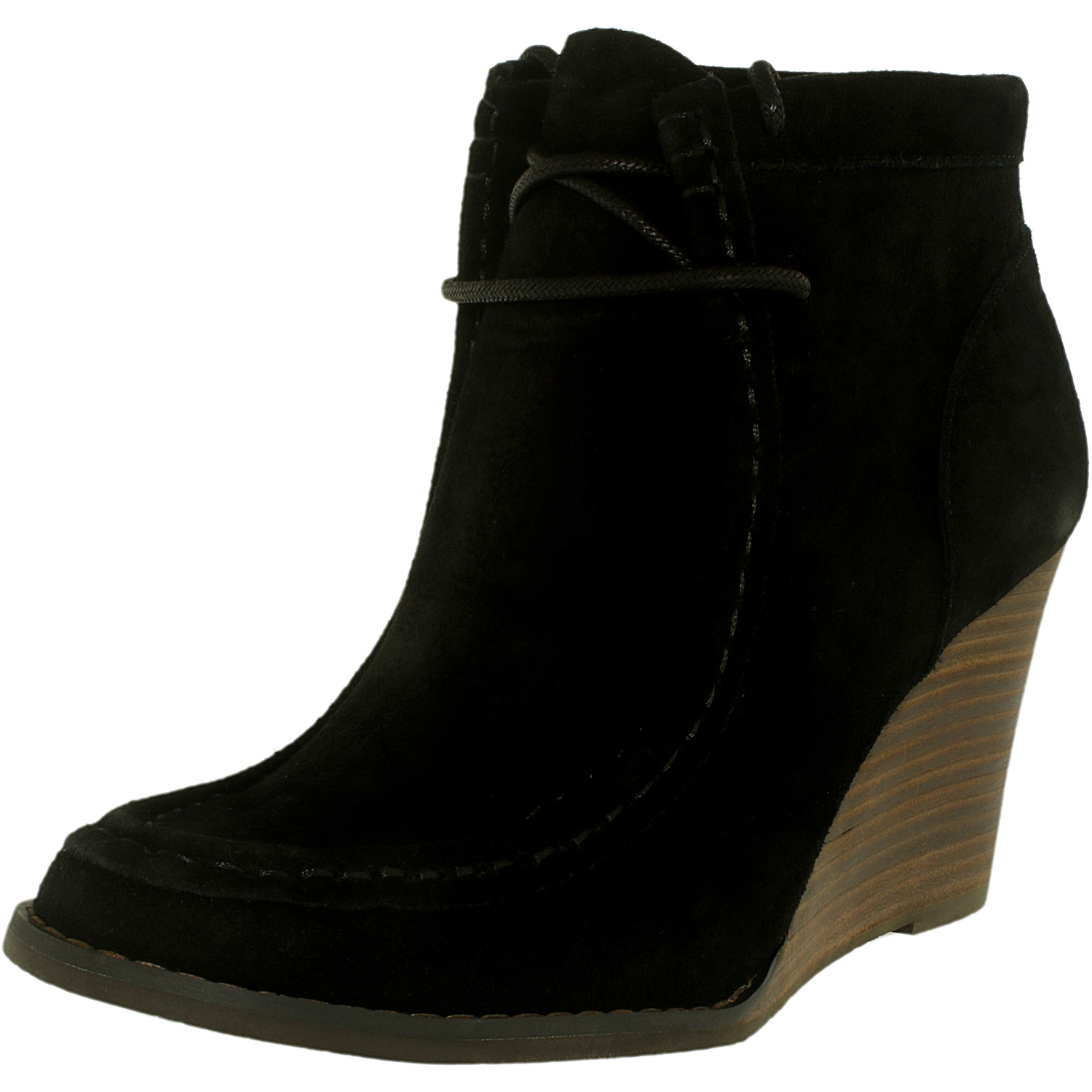Lucky Women's Ysabel Suede Black Ankle-High Leather Boot - 7.5M