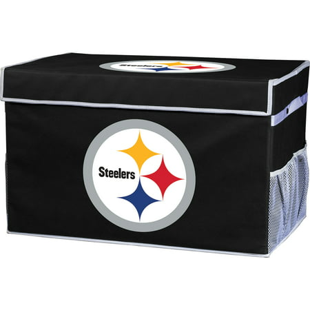 Franklin Sports NFL Pittsburgh Steelers Collapsible Storage Footlocker Bins - Large - Pittsburgh Steelers Store