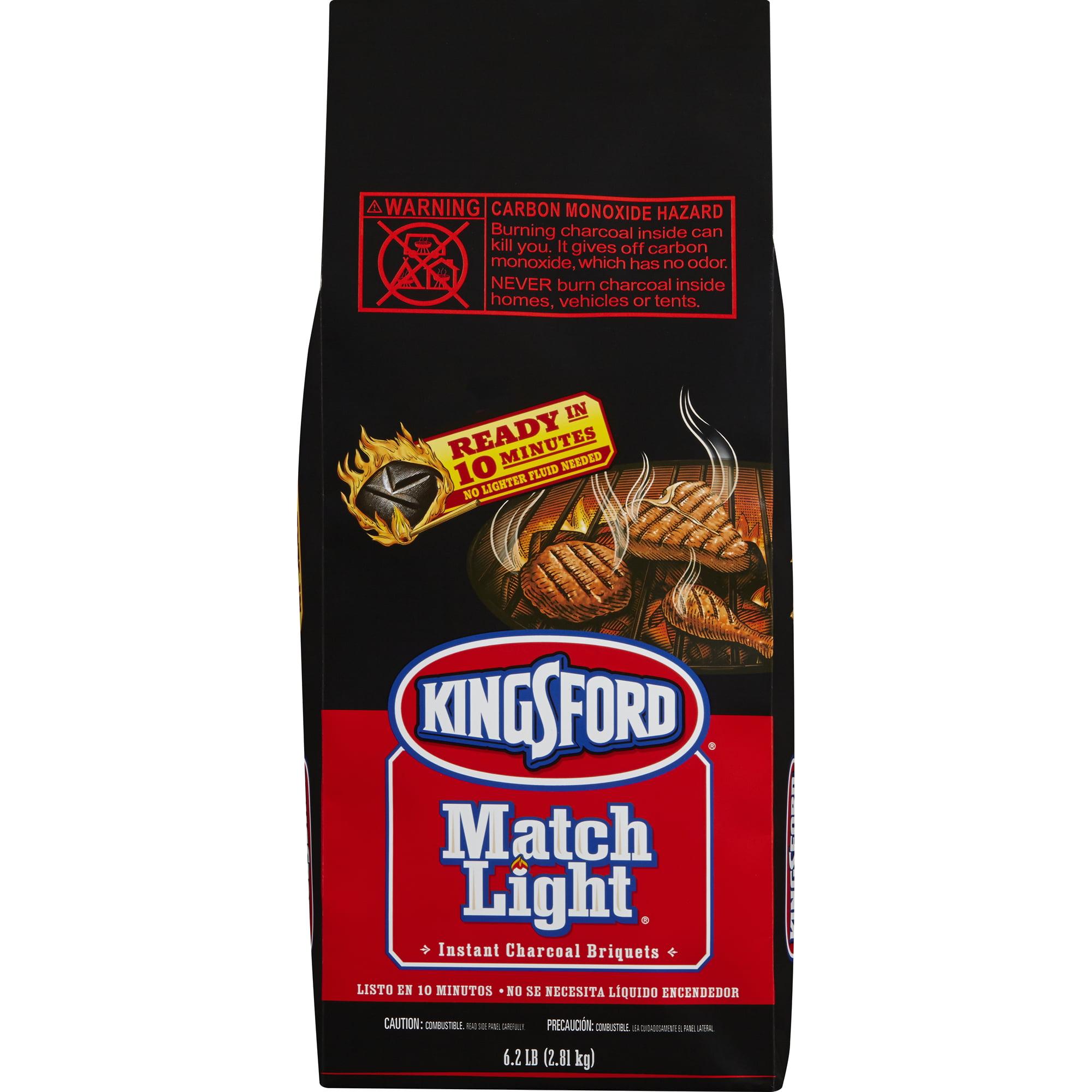 Kingsford Match Light Charcoal Briquets, 6.2 Pound Bag