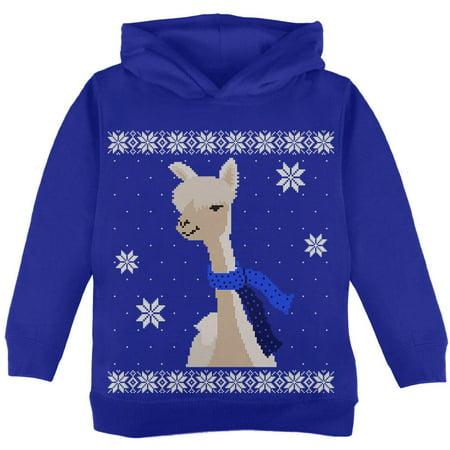 Big Alpaca Scarf Ugly Christmas Sweater Toddler Hoodie