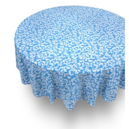 Royal Bath 70 Round Vinyl Tablecloth With Flannel Backing